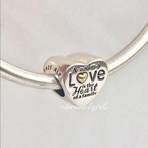 Authentic Pandora heart of the family charm 14k